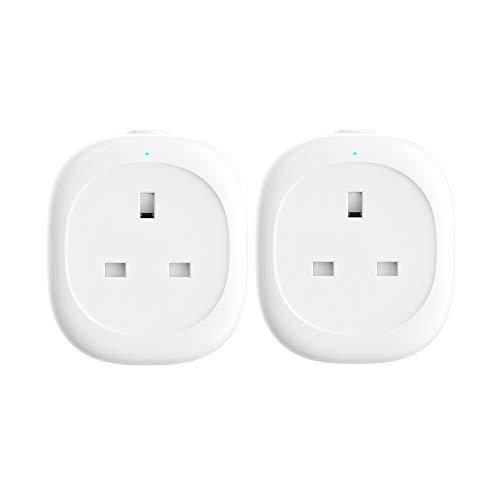 Smart Plug, woostar WiFi Plug kompatibel mit AMAZON Alexa/Google Assistant/ifttt, kabellose Plug mit Timer Funktion, Fernbedienung Ihre Geräte von überall telefonisch (2er Pack)