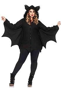 Leg Avenue- Murciélago Mujer, Color negro, Talla Plus 1X/2X (EUR 46-50) (85311X08001)