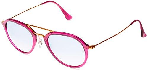 RAYBAN Unisex Sonnenbrille Rb4253 Mehrfarbig (Gestell: pink,Gläser: grau 62359U)), Small (Herstellergröße: 50)