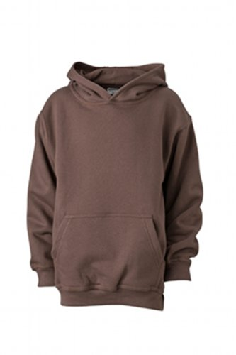 James & Nicholson - Sweatshirt Hooded, Felpa Bambino, Marrone (brown), (Taglia Produttore: XL (146/152)