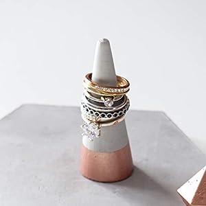 Atelier Ideco – Rosegold Ringkegel Aus Beton, Valentinstag Geschenk Idee
