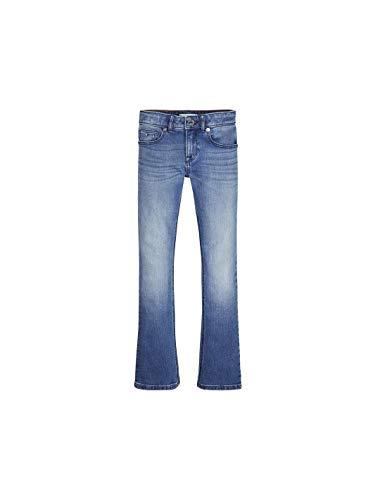 Tommy Hilfiger Baby-Mädchen Jeans Skinny Flare LBST Blau (Denim 1A5) 98 (Herstellergröße:3) -
