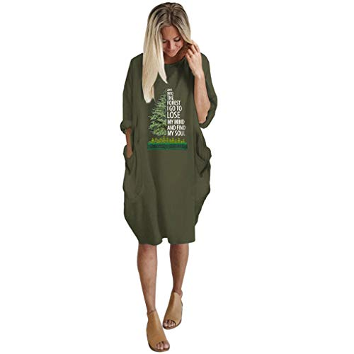 Junjie Frauen Sommer Langarm gedruckt Kurze Minikleid rüschen atmungsaktiv T-Shirt Mädchen blusen grösse grössen Navy, Schwarz, Grau, Wein, Grün, Pink - Navy-reitstiefel