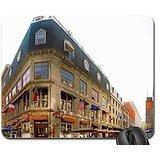 Cafe auf eine dreieckige Ecke auf eine Stadt Street Maus Pad, Mauspad -