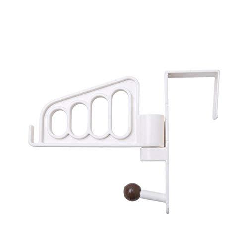 Porte coulissante de Style Japonais Mashroom Fat Porte-Serviette Racks Self Crochet de bâton de Salle de Bain pour Sacs Chapeaux Crochets de Salle de Bain Key Kitchen, White, United States