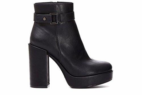 Cafènoir ha924-010 scarpe donna stivaletto corto tronchetto alla caviglia nero con tacco alto e plateau n° 39