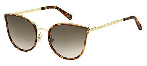Fossil Damen Fos 2087/S Sonnenbrille, Mehrfarbig (Hvna Gold), 55