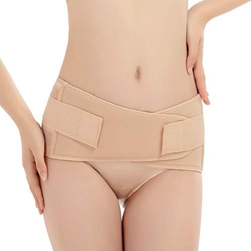 ANMODUXY Beckenbandage, Atmungsaktiv Beckengürtel Körperformung Bauchgurt für Genesung nach der Geburt Kreuzschmerzen, Hüftschmerzen, Beckenschmerzen,A,M