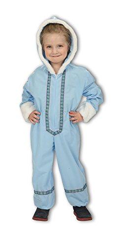 Eskimo Kostüm für Kinder - Overall in Hellblau - Gr. 116
