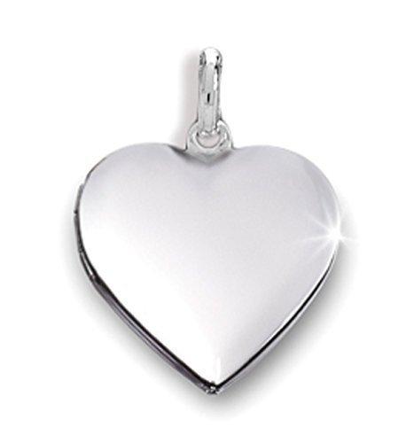 Anhänger Medaillon Herz 925 Silber Herzform zum öffnen (Silber Medaillon Herz)