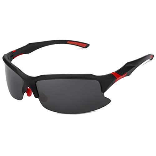 EUCoo Radfahren Brille Polarisierte Sonnenbrillen Outdoor Sports Angeln Brillen Reitbrillen (rot)