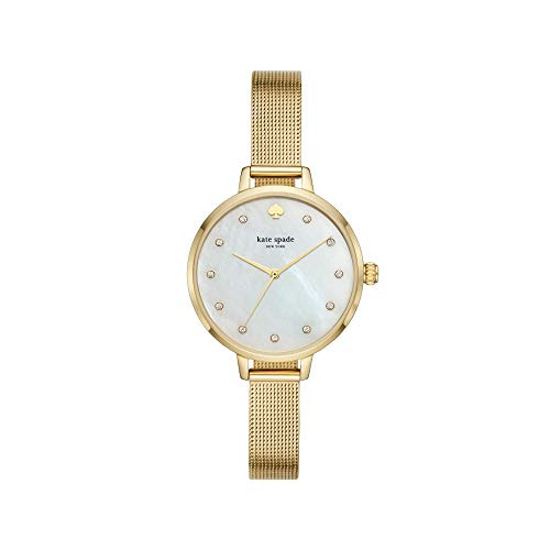 Kate Spade Pearl Dial & Gold-Tone Mesh Women's Watch KSW1491