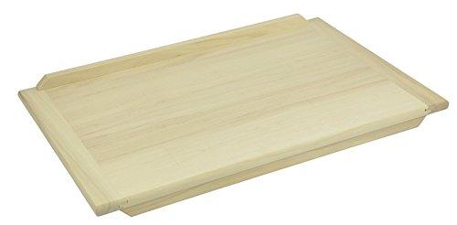 Backbrett 60x40cm Schneiderbrett Teigbrett Nudelbrett Holz Arbeitsplatte Brett