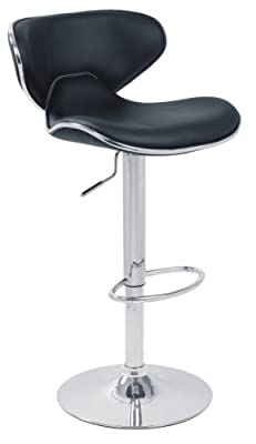 DF Sales Lamboro Carcaso Bar Stool, Black