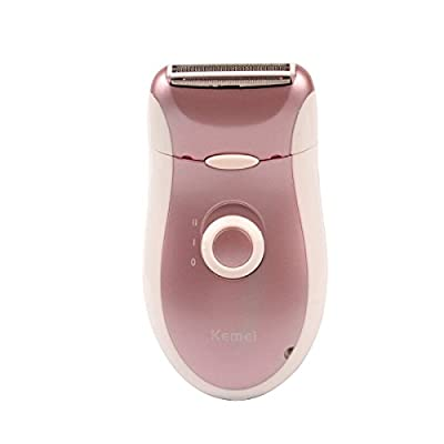 Ckeyin 2 in 1 Rechargeable Wet/Dry Body Hair Device Lady Epilator Beard Shaver Razor Women Epliator Tweezer, Built-in lithium battery