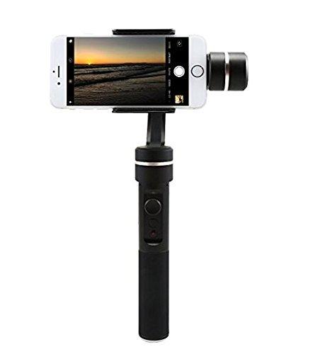 Feiyu SPG 3 Ejes Estabilizador de Cámara Gimbal de Aluminio CNC para Smartphone, iPhone,Accion de Cámara,y Todas las Videocámaras GoPro
