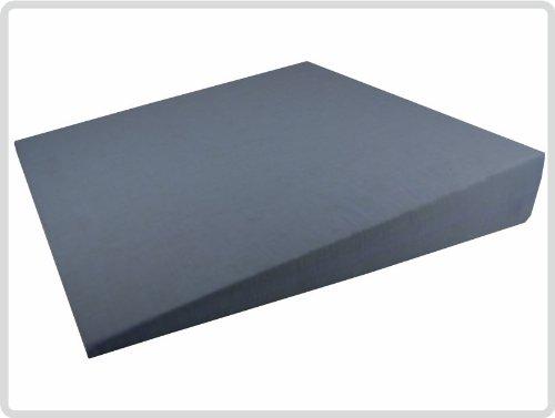 Orthopädisches Keilkissen 100 % Baumwollbezug! - Farbe: Grau - Kissen Sitzkissen Sitzkeilkissen Sitzkissen Sitzkeil *Top-Qualität zum Top-Preis*