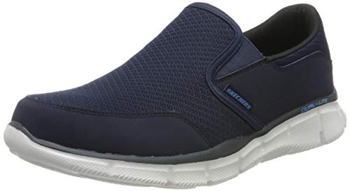 Skechers Herren Equalizer persistent Low-Top, Blau (Navy), 43 EU