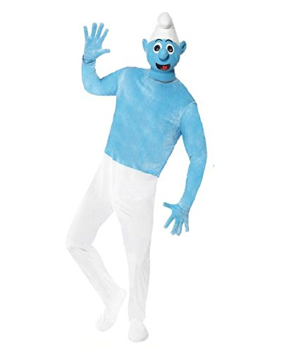 Costume Carnevale Adulto Puffo Lusso - Puffi-M
