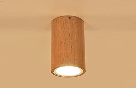 The LED light wooden TV celling wall mount logs out