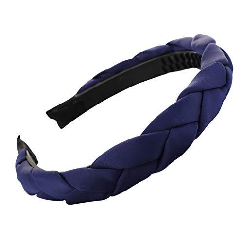 Seguire Haarreifen Gewebt Haarband Kopfschmuck Haarschmuck Stirnbänder Einfarbig Haar Zubehör Haarschmuck Make-up Haarband Hoop Set für Frauen und Mädchen -