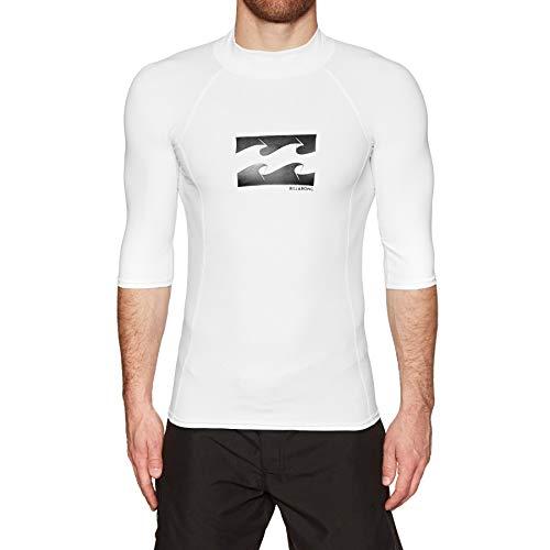 BILLABONG Advance Rash Vest Small White Advance Vest