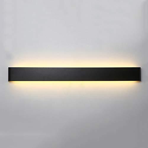 Lampada da Parete A LED A Striscia Lampada da Parete Creativa in Acrilico per Il Soggiorno in Metallo Acrilico (Colore : Nero, Dimensioni : 90x9cm)