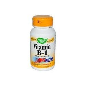 Natures Way Vitamin B-1, 100 Caps, 100 Mg from Nature's Way