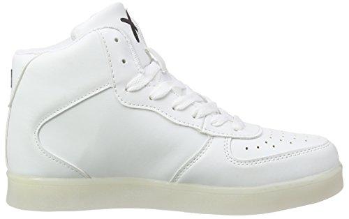 WIZE&OPE - Led-hi, Scarpe da ginnastica Unisex – Adulto Bianco (Weiß (white 01))