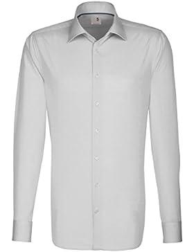 Seidensticker Herren Langarm Hemd Schwarze Rose Slim Fit weiß blau & grau mit Piping 246810