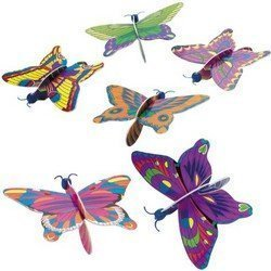 Pack of 6 - Foam Butterfly Gliders - Great Party Loot Bag Fillers