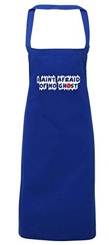 t Afraid Of No Ghost Schürze Küche Kochen Malerei DIY Einheitsgröße Erwachsene, königsblau, Einheitsgröße (Ghost Busters Halloween-kostüm)