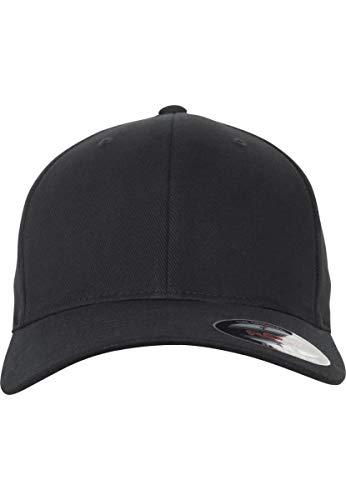 Flexfit Brushed Twill Cap, Black, S/M Black Brushed Twill Cap