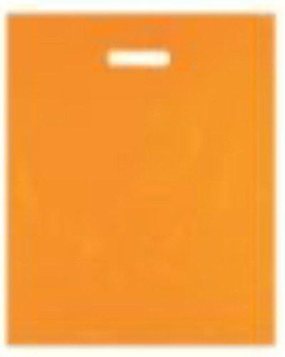 500-RESISTENTE-Naranja-Color-Plstico-Polietileno-Plantilla-mango-Bolsas-DE-GRAN-TAMAO-15-x-18-x-3-Parche-varigauge-Compra-Regalo-Tienda-de-fiesta