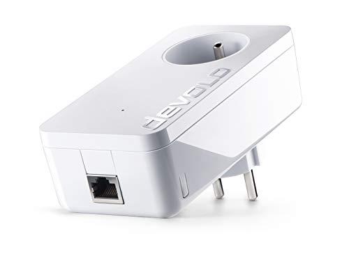 Devolo 9370 dLAN 1200+, Prise Réseau CPL (1200 Mbit/s, 1x Adaptateur, 1 x Port Gigabit Ethernet, Courant Porteur, Prise Filtrée Intégrée, Boitier CPL) - Module Complémentaire, Blanc