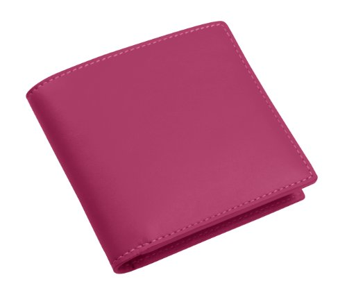 Lucrin - Portefeuille luxe - Cuir Lisse fuchsia