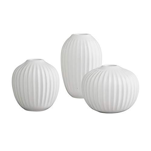 Vasen Set, Keramik, Weiß, 8 x 9,5 x 2,2 cm ()