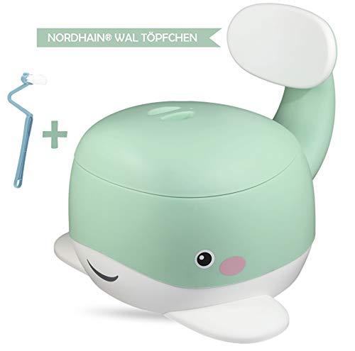 Nordhain Wal Töpfchen Mint mit freundlichem Design - rutschfeste Kinder Toilette, hochwertiger Toilettentrainer, 1-5 jährige Kinder (Mint)