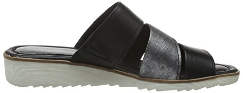 Marco Tozzi Damen 27100 Offene Sandalen mit Keilabsatz Schwarz (BLACK ANT.COMB 096)