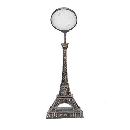 Zerodis Eiffelturm Form Nachtlicht Kunstharz Creative Dome Light Head integrierte Batterie Taster Schreibtisch Lampe Platz Tisch Dekoration Geschenk Bronze