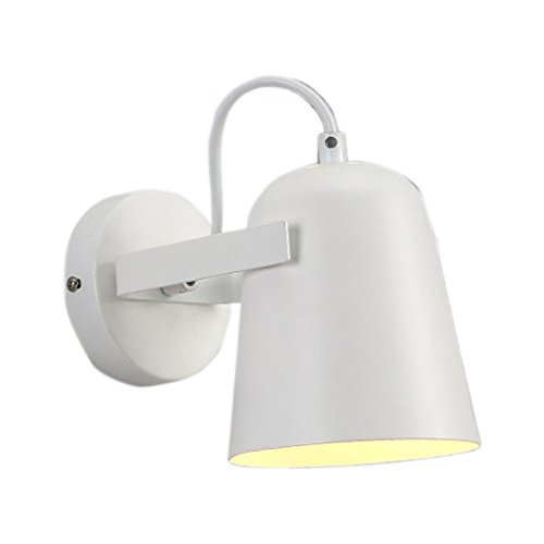 Dyfymx lampada da parete creativa minimalista nordica, lampada da parete moderna corridoio camera da letto corridoio corridoio - applique da parete per l'ufficio (colore : bianca)