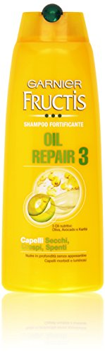 Garnier - Fructis Oil Repair 3, Shampoo Fortificante, Capelli Secchi, Crespi, Spenti - 250 ml