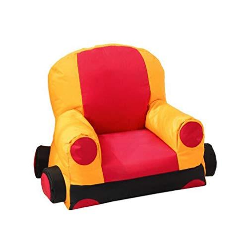 Gtt Kinder Kinder gepolsterte Sessel Stoff Auto sitzsack tragbare Kissen geeignet für Kinder möbel im Zimmer Geschenk (Color : RED, Size : 23.6 * 27.5 * 29.5IN) -
