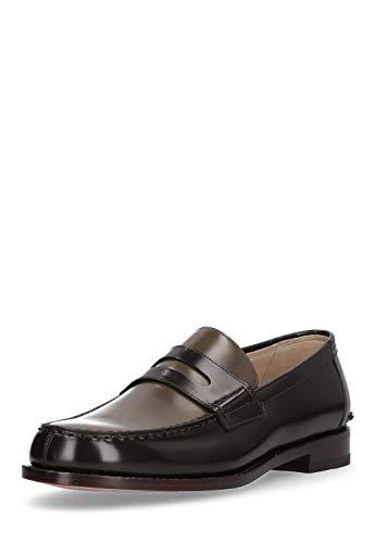 BALLY Herren Herren Slipper Schuhe Mokassins echt Leder Halb Loafer bequem Bally Loafer