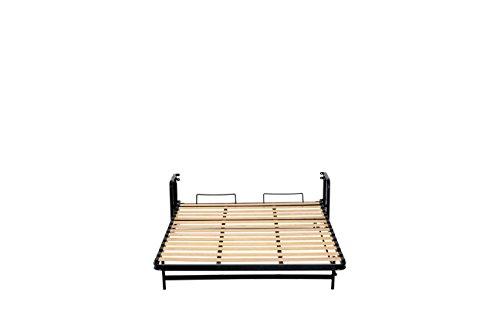 Doppel- Wandbett (Längs) 140x200cm, Klappbett, Schrankbett, Gästebett, Funktionsbett, Vertical 140cm x 200cm - 7