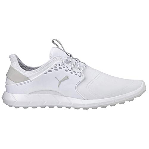 Puma Golf Mens 2018 Ignite Pwrsport Pro Spikeless Golf Shoes - White - UK 9
