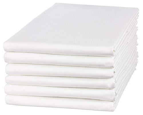 Clinotest Glatte Bettlaken in Vielen Verschiedenen Größen, weiß, in 100{91d139c92f500b636c05f9ed761930b0ac455ab817f10b009b5d9106d4478f9a} Baumwolle, auch für Abdeckungen/Tischdecken / Fangolaken/Sommerlaken zum Zudecken (100 x 200 cm)