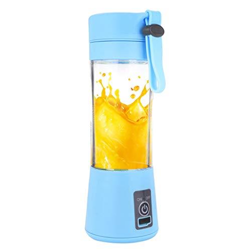 Mini Electric Juice Cup Serria®380ml USB Fruchtsaftpresse Handheld Smoothie Maker Saft Tasse ideal für zu Hause oder als Accessoire für unterwegs. Blau 22x7.8x7.8cm - Seife Behälter Mischen