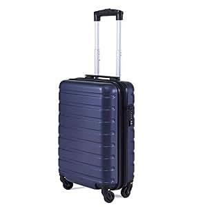 """Toctoto Bagaglio a Mano Espandibile con Lucchetto TSA,(18"""" 38LT 52x33x20cm) Adatto Per Voli Low Cost Bagaglio Da Cabina Ryanair, Vueling, Wizz Air (18""""(52cm-38L)-Blu)"""