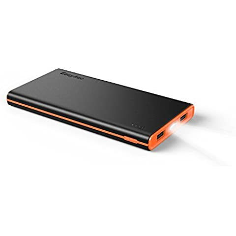 EasyAcc Colorido-G2 10000mAh Batería Externa Nueva Version 3.1A Salida Inteligente Power Bank Para Smartphones Tablets Altavoz Bluetooth - Negro Y